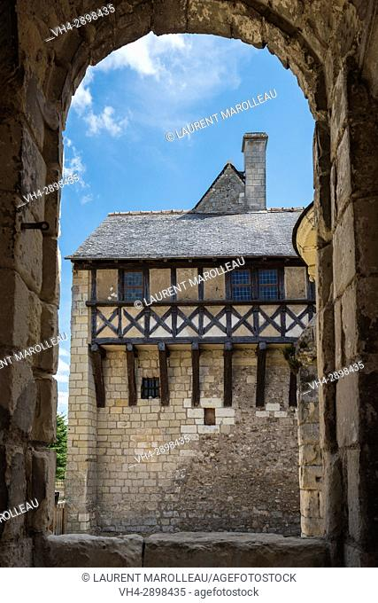 The Prior House from the Chapel of the Church at Saint Cosme Priory also called Home of Ronsard, La Riche, Tours District, Indre-et-Loire Department