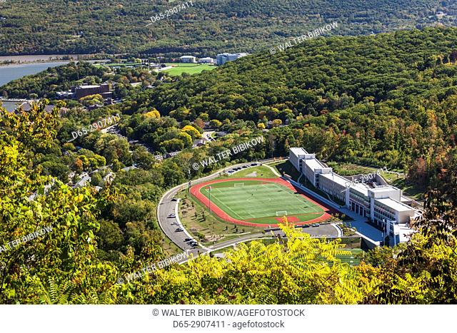 USA, New York, Hudson Valley, West Point, US Military Academy West Point, elevated view