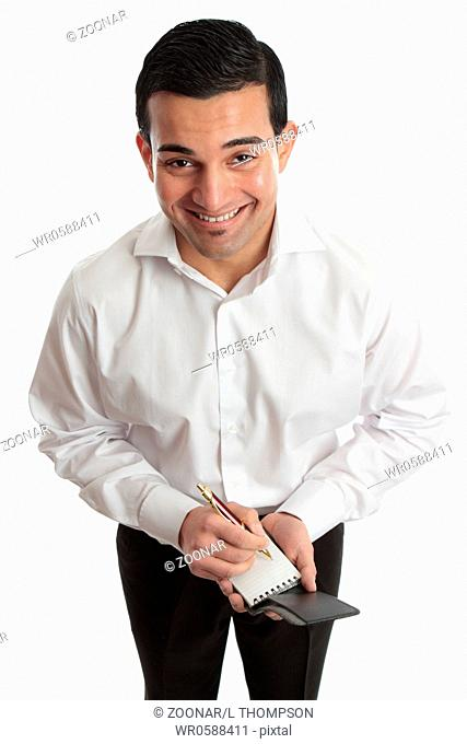 Arab men greeting each other with a hug stock photo picture and friends greeting each other with a hug arab man smiling happy businessman waiter etc with pen and notepad m4hsunfo