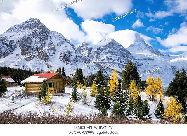 Cabins of Mount Assiniboine Lodge, Mount Assiniboine Provincial Park, British Columbia, Canada
