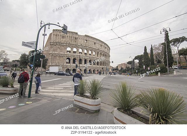 Coliseum in Rome on February 8, 2017 Italy