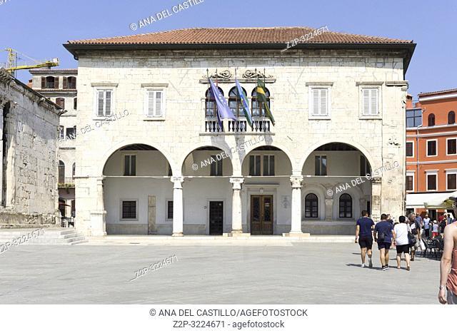 PULA CROATIA ON AUGUST 19, 2018: City hall Casa Comunale Pula in Istria Croatia