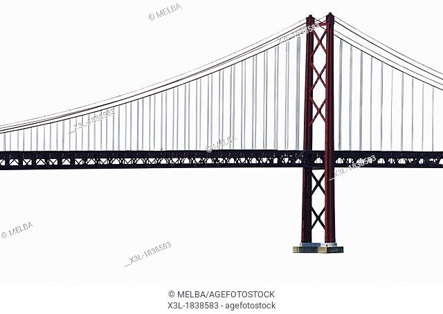 25th of April Bridge Lisbon Portugal Europe