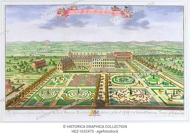 Kensington Palace, London, 1730. Originally built in the 17th century as the residence of the Earl of Nottingham, Kensington Palace was acquired by King William...