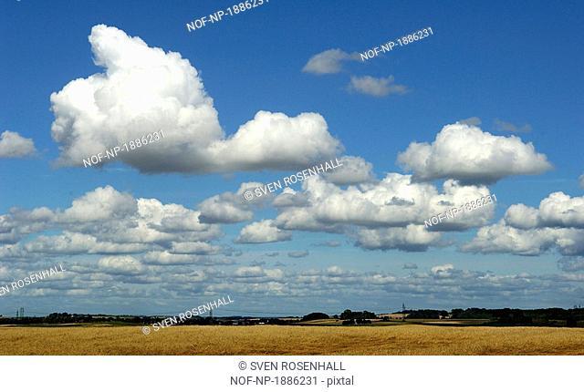 Clouds in the sky, Skane, Sweden