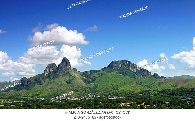 Panoramic view San Juan de los Morros Mountains, Guarico state Venezuela