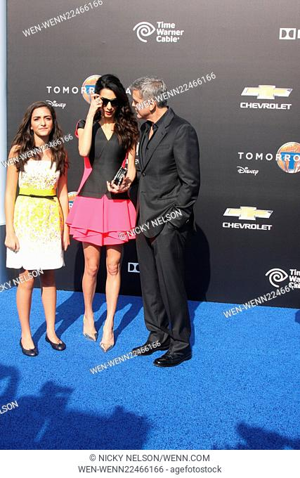Tomorrowland Premiere Featuring: Mia Alamuddin, Amal Alamuddin Clooney, George Clooney Where: Lake Buena Vista, California