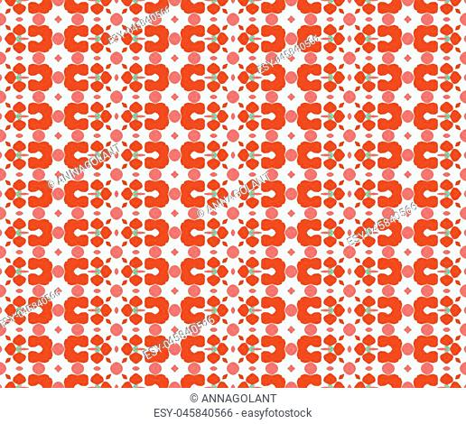 Design for printing on fabric, textile, paper, wrapper, scrapbooking. Traditional tile ornament in ethnic style. Seamless pattern