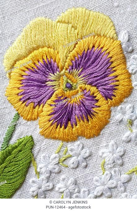 Embroidered pansy
