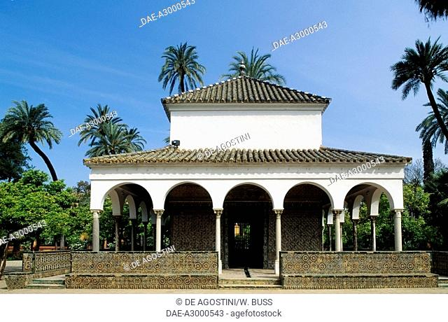 Pavilion of Charles V, Gardens of the Alcazar (UNESCO World Heritage List, 1987), Seville, Andalusia, Spain