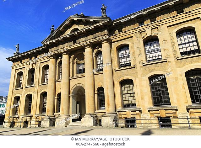 Clarendon Building, early 18th-century neoclassical building, University of Oxford, England, UK