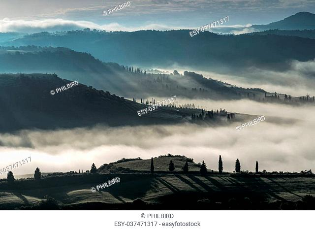 """Sunrise over Val d""""""""Orcia"""