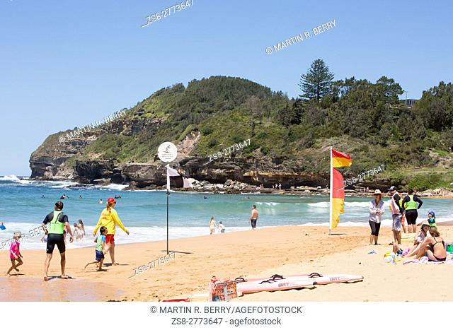 Warriewood Beach , one of Sydney's famous northern beaches,Australia