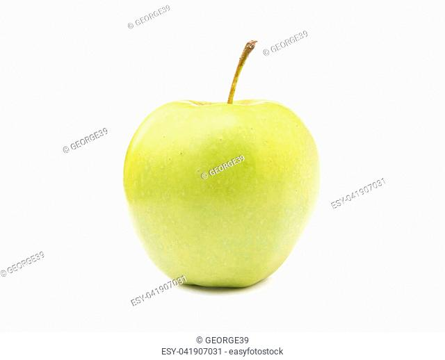 Fresh healthy apple isolated on a white background