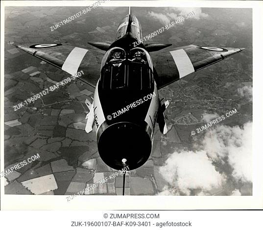 Feb. 26, 2012 - Supersonic Bug ?¢'Ǩ'Äú Head-on air shot of the English Electric P.11 Lightning two-seater trainer over Hampshire, England