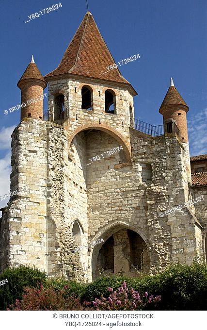 Auvillar, st Pierre church, GR65 path Compostela, France