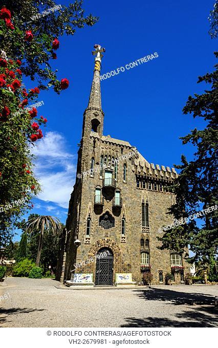 Bellesguard Tower by Gaudi, Barcelona