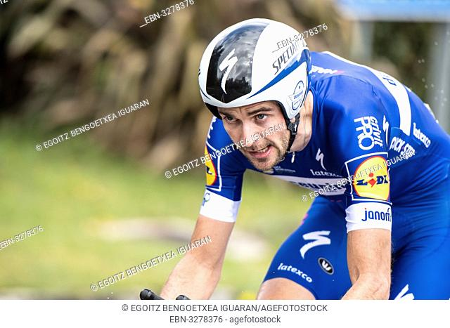 Pieter Serry at Zumarraga, at the first stage of Itzulia, Basque Country Tour. Cycling Time Trial race