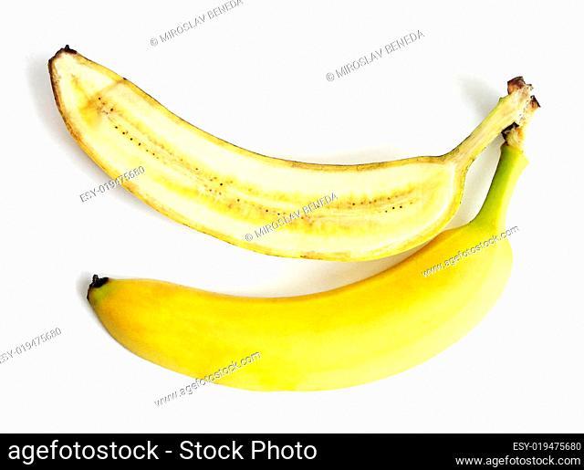 Fresh fruit - yellow half banana