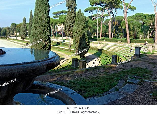 VIEW OF THE PARK AND GARDEN OF THE VILLA BORGHESE, ROME, ITALY, EUROPE