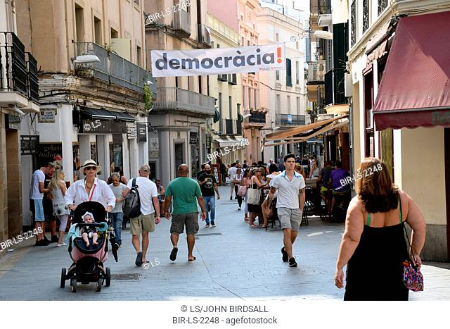 Catalonia, Spain Sep 2017. Sitges. On 1 October Catalans will go to the polls to vote in a referendum on whether to secede from Spain and form an independent...