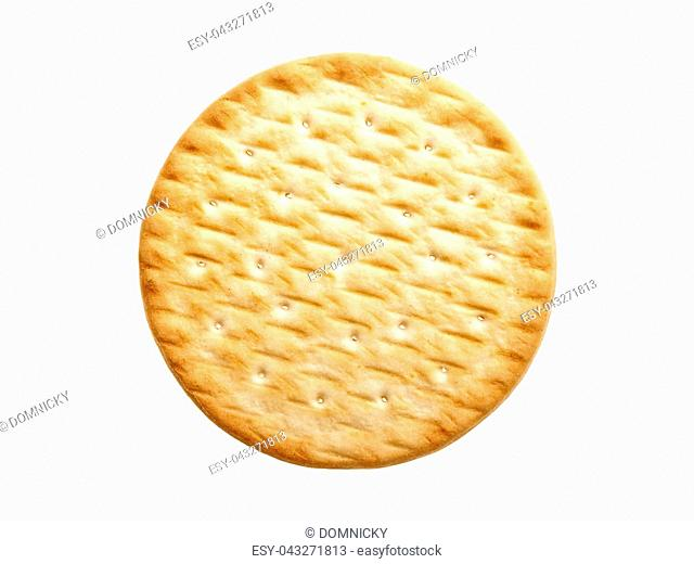 Butter biscuit on a white background