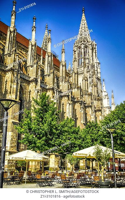 Ulm Minster, Germany. Lutheran church started in the 14th Centruy, part of the Baden-Wurttemberg dioceses