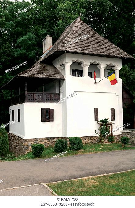 Old Traditional Wooden House From Romania Who Belonged To The Great Artist Constantin Brancusi