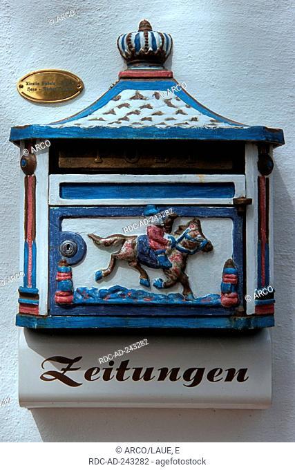 Mailbox Friedrichstadt North Frisia Schleswig-Holstein Germany