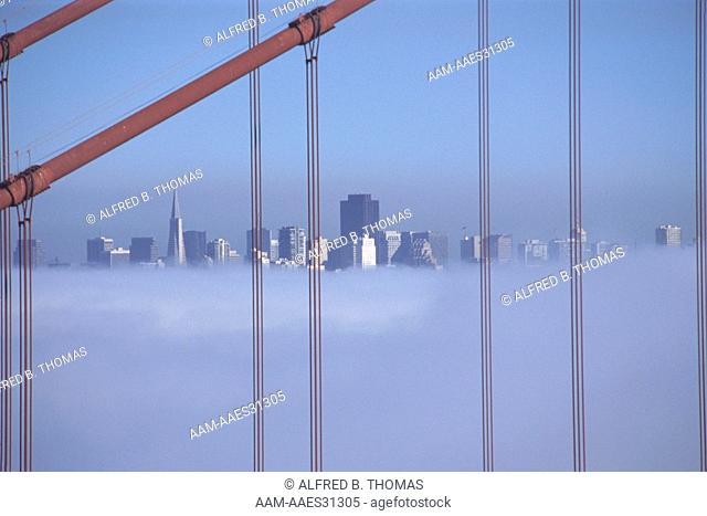 Golden Gate Bridge in Fog, San Francisco, CA
