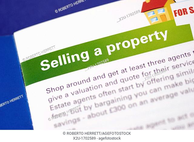 A leaflet giving advice on selling a property