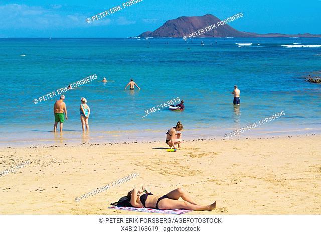 Playa Corralejo Viejo beach, Corralejo, Fuerteventura, Canary Islands, Spain, Europe