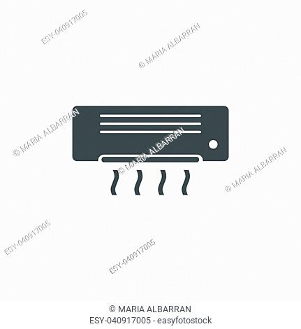 Air conditioning icon on white background