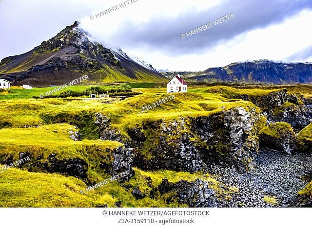 House in Hellnar, Snaefellsnes peninsula, Iceland