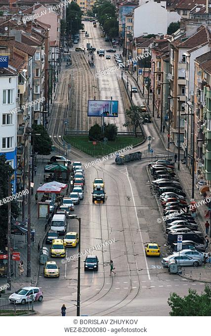 Bulgaria, Sofia, Cityview, View to Boulevard Gen. Skobelev