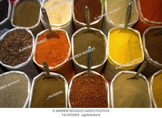 Spices Anjuna Flea Market Goa India