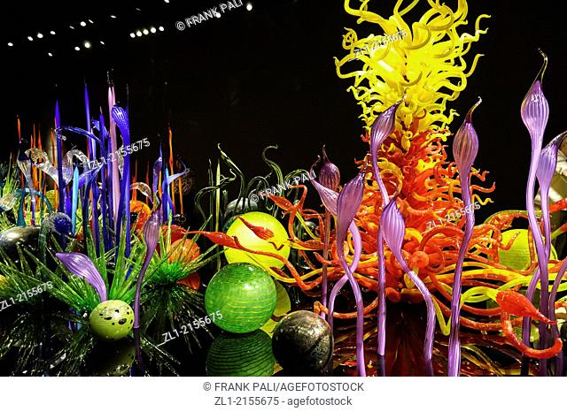 Mille Fiori,Dale Chihuly Garden and Glass.Seattle,Washington USA