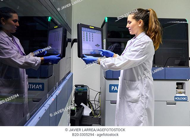 Integrated solutions for molecular tests in the diagnostic laboratory, Cervical cancer screening program. The cervix is the lower part of the uterus