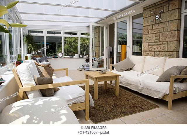 Lounge area of a conservatory