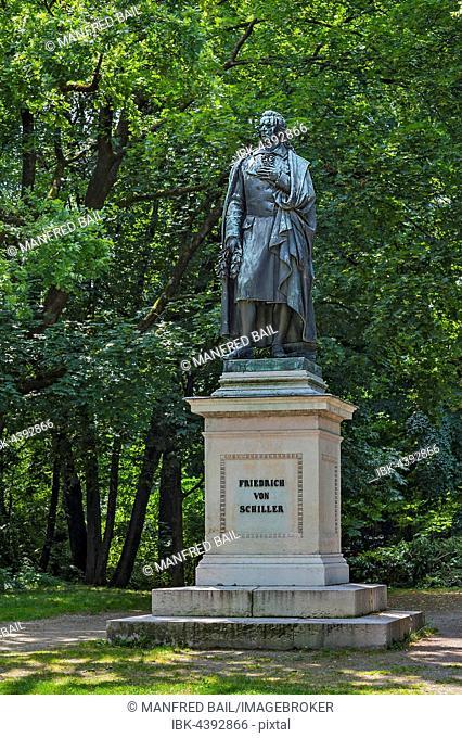 Schiller monument at Maximilianplatz, Maxvorstadt, Munich, Bavaria, Germany