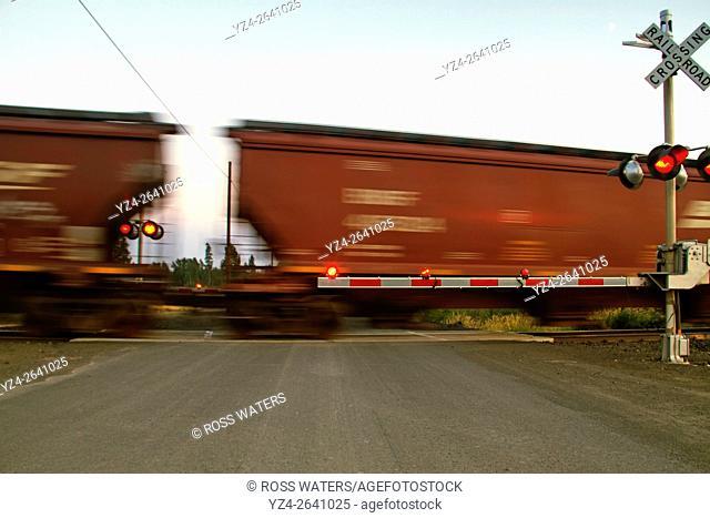 BNSF train at East Babb siding, Cheney, Washington, USA