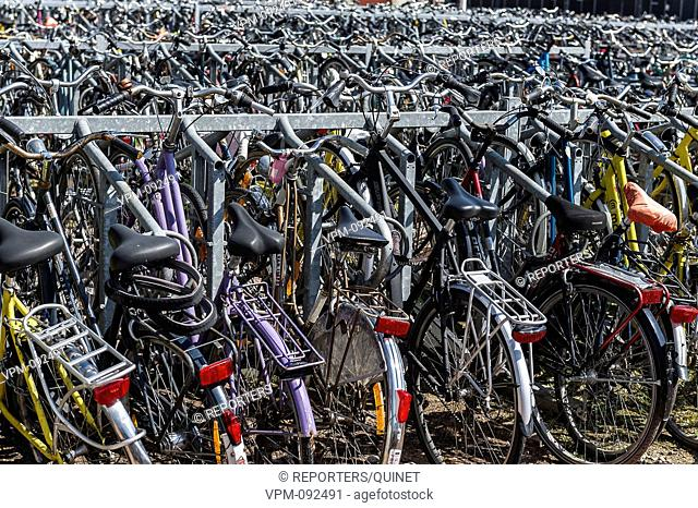 Ghent - 24 july 2016 Parking velo face a la gare de Gand Voor het trein station van Gent, een fietspunt Bike point Credit: JMQuinet/Reporters Reporters / QUINET