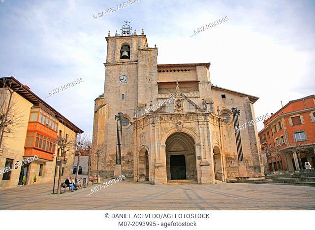 Agurain village, Salvatierra, San Juan Bautista Church, Alava, Basque Country, Spain, Europe