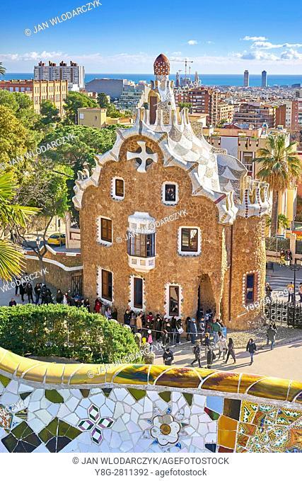 Park Guell by Antoni Gaudi, Barcelona, Catalonia, Spain