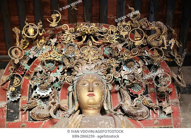 Shuanglin Temple, Bodhisattva Hall, Shanxi, China