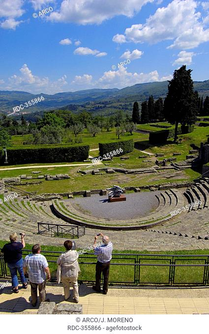 Roman theatre, amphitheatre, Fiesole, Province of Florence, Tuscany, Italy