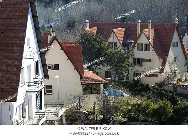 Morocco, Ifrane, settlement, houses, detail, Africa, North-Africa, city, university-city buildings, architecture, residences, outside, deserted