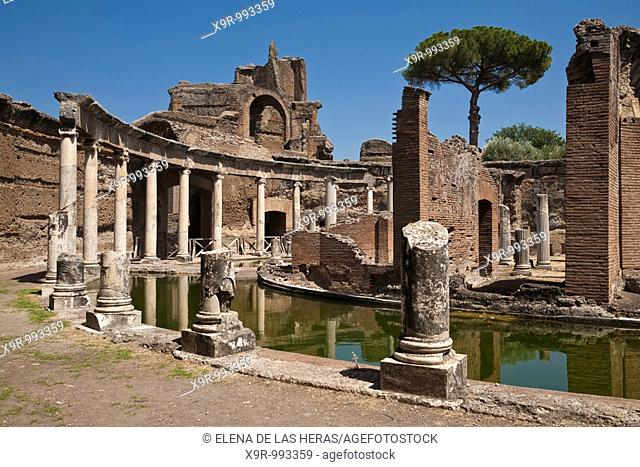 Maritime Theater at Hadrian's Villa. Tivoli. Italy