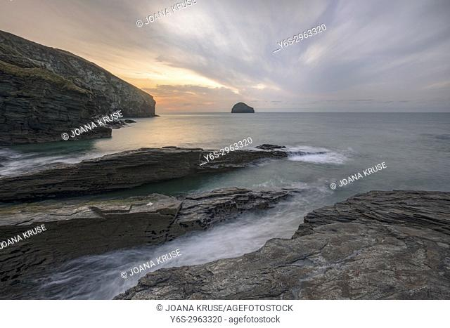 Trebarwith Strand, Cornwall, England, United Kingdom