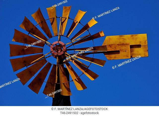 Windmill in the city image in Boadilla road in Madrid
